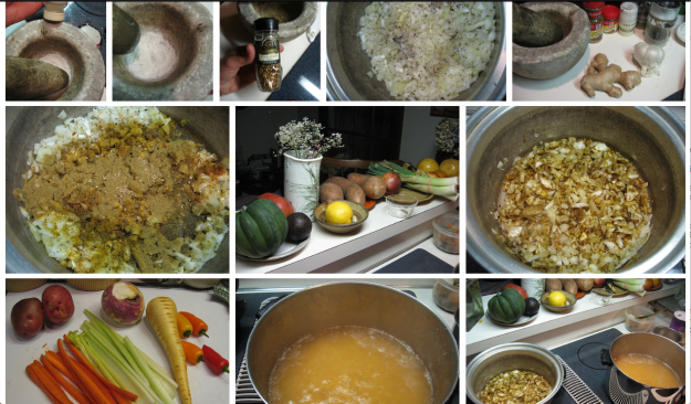 curried yellow split pea soup step by step pics